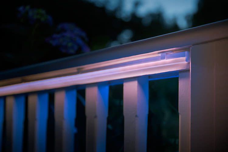 Der Philips Hue Outdoor Lightstrip hat eine homogene Lichtabstrahlung