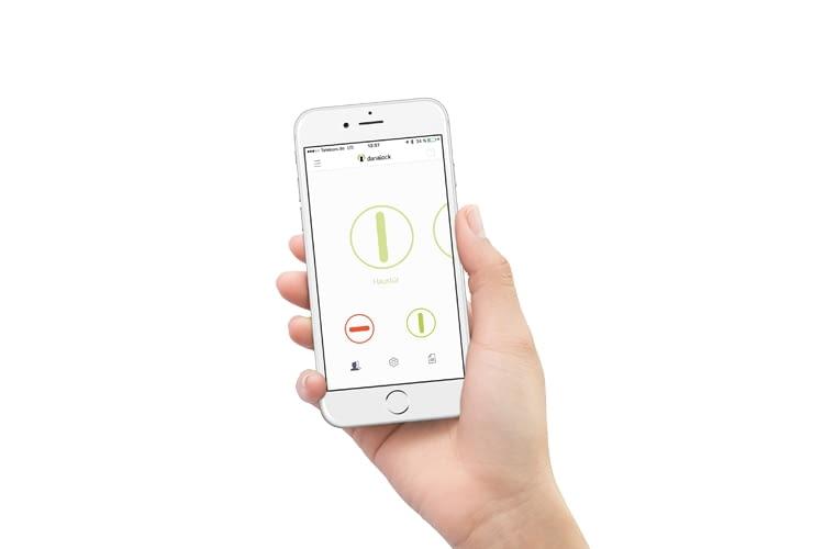 Per Smartphone App lassen sich alle Danalock Smartlocks bequem verwalten