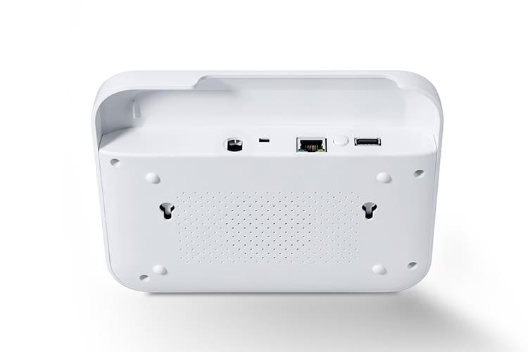 Die Anschlüsse für WLAN und Stromversorgung befinden sich auf der Rückseite des Alarmsystems LUPUSEC XT1 Plus