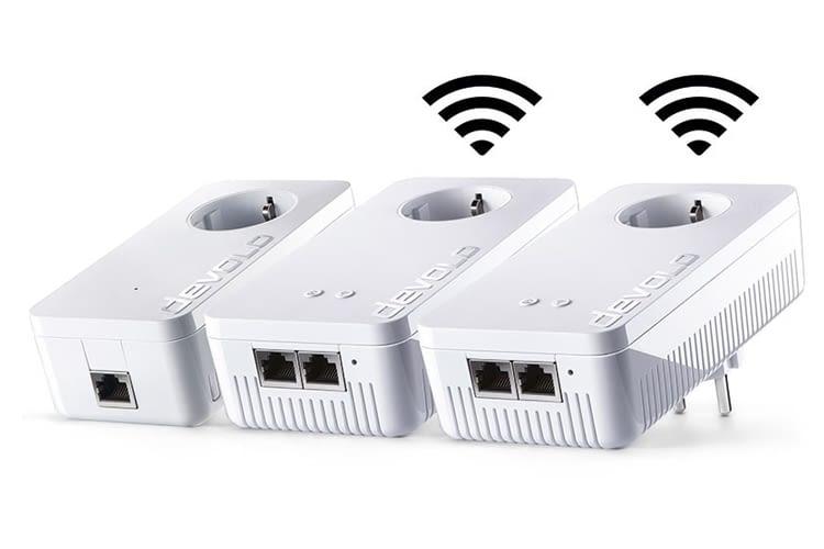 """Drei devolo Powerline dLAN Wifi 1200 AC-Steckdosen sind Teil der """"Whole Home WiFi-Lösung"""""""