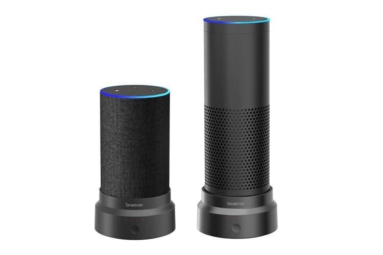 Praktisch: Wer sowohl Echo Plus als auch Echo 2 besitzt, benötigt nur eine Powerbank