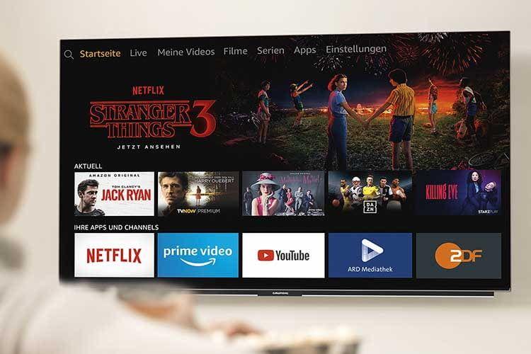Der 55 Zoll Grundig OLED Fire TV ist der perfekte Alexa Fernseher für Smart Home Freunde