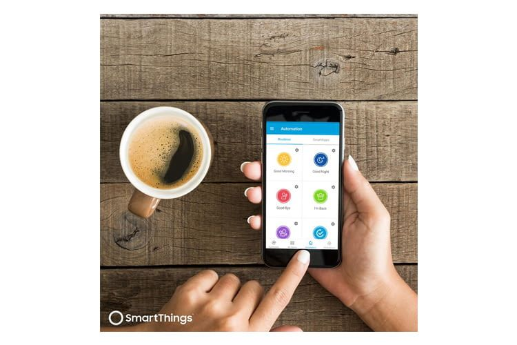 "Die SmartThings-Szene ""Good Morning"" startet z. B. eine per WLAN-Steckdose vernetzte Kaffeemaschine"