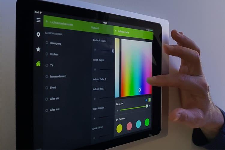 Individualisierte Beleuchtung des Loxone Showhome via iPad