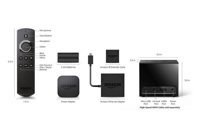Amazon Fire TV Cube: Technische Details der Geräte