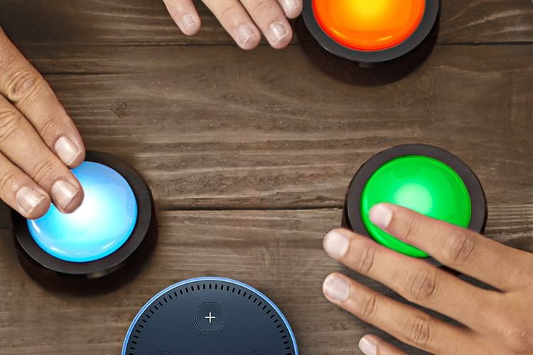 Die kabellosen Amazon Echo Buttons werden im Doppelpack geliefert