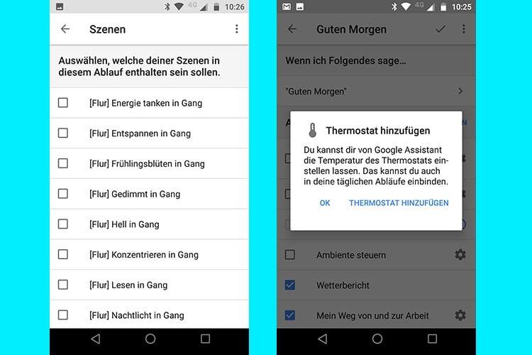 In Google Home Abläufen können jetzt auch Philips Hue Lichtszenen und smarte Geräte hinzugefügt werden
