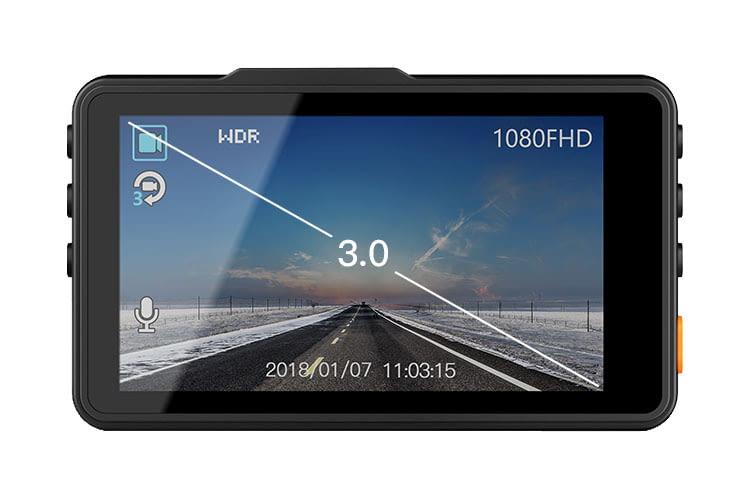 APEMAN Dash Camera C450A verfügt über ein großzügiges 3 Zoll-Display