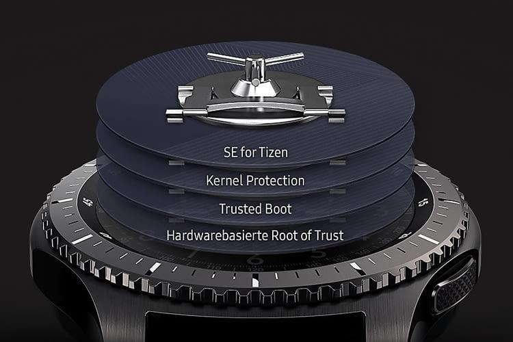 Samsung Knox sorgt bei der Gear S3 frontier für mehr Sicherheit