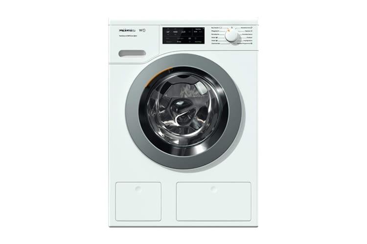Diese Waschmaschine ist unterschiebbar und säulenfähig