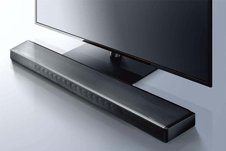 Die Premium-Soundbar Yamaha MusicCast YSP 2700 verfügt über 16 integrierte Lautsprecher