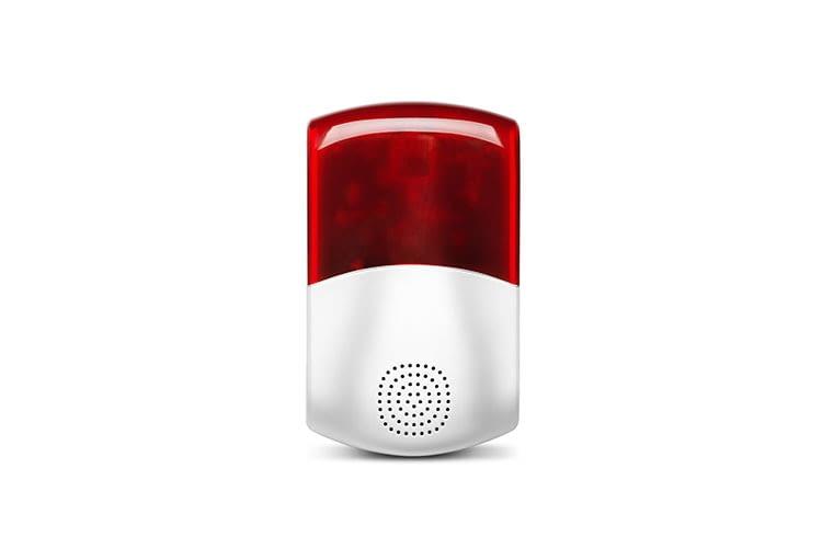 Die Außensirene des MEDION P85774 Smart Home-Alarmsystems
