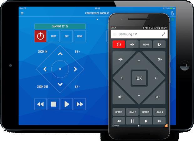 AnyMote App für Android und iOS auf einem Tablet und Smartphone