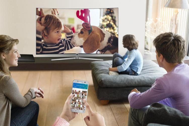 Auch die Fernsehsteuerung per App ist mit Samsung SmartThings kein Problem