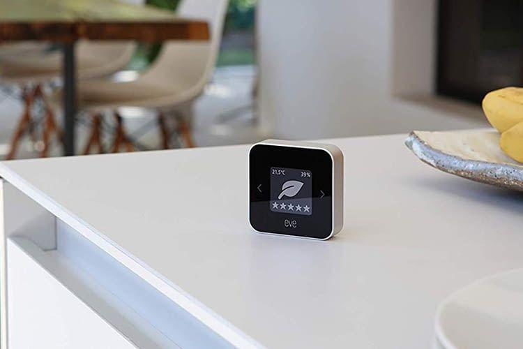 Mehrere Eve Room-Geräte können im Haus verteilt das Klima überwachen