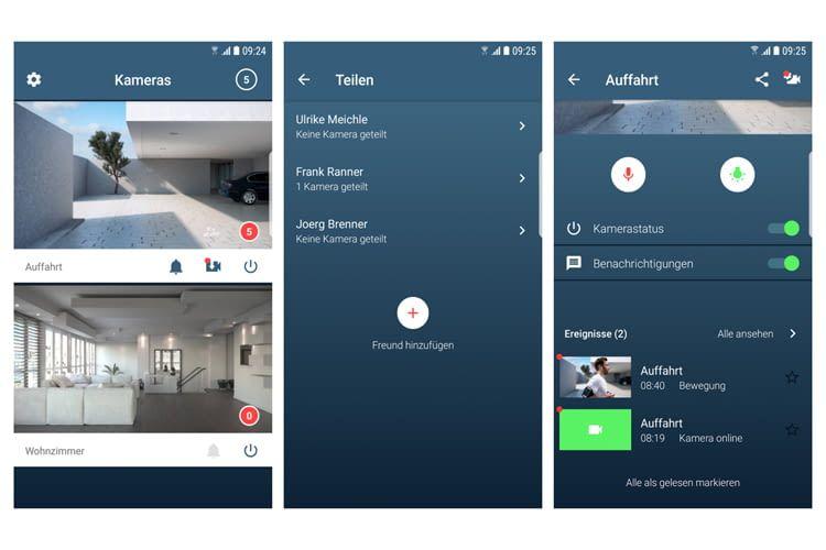 Mit der Bosch Smart Home App, lassen sich alle vernetzten Kameras im Überblick anzeigen