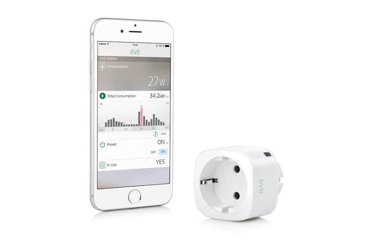 Auf der iOS App für iPhone und iPad wird der genaue Stromverbrauch von Eve Energy angezeigt