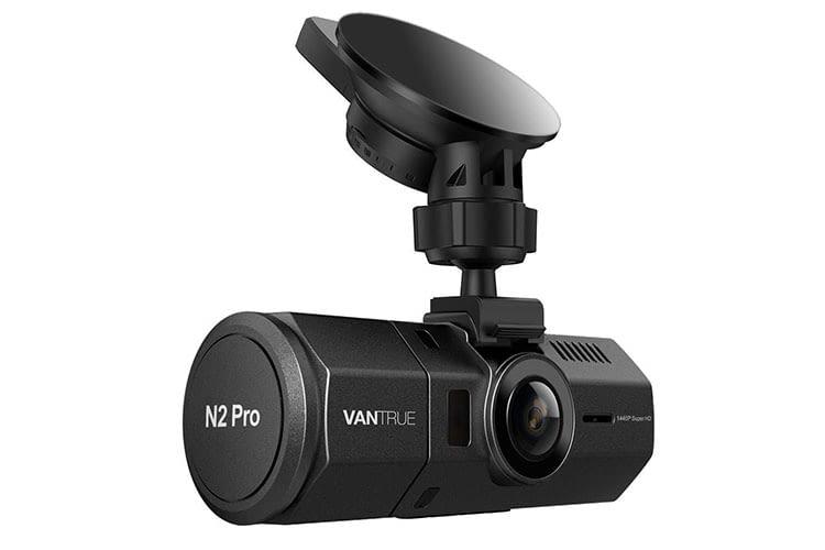 Die Autokamera Vantrue N2 Pro Dual 1080P bietet eine zweite Kamera für die gleichzeitige Aufnahme des Fahrzeuginnenraums