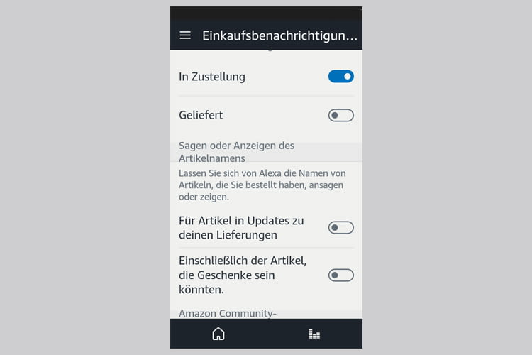 In der Alexa App lässt sich festlegen wann und wie Echos Benachrichtigungen wiedergeben sollen
