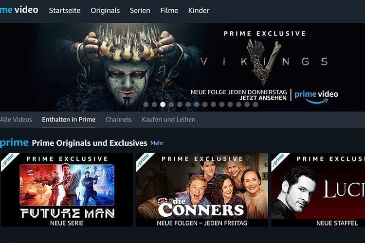Der Videostreaming-Dienst Amazon Prime Video ist Bestandteil von Amazon Prime