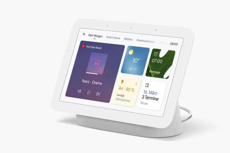 Über den integrierten Google Assistant lassen sich z. B. Musikinhalte sprachsteuern