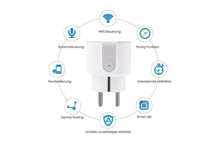 Die AISIRER WLAN-Steckdose bietet Smart Home Fans ein breites Funktionsspektrum