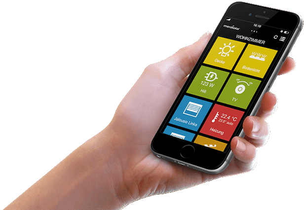 Abbildung der mediola® IQONTROL App