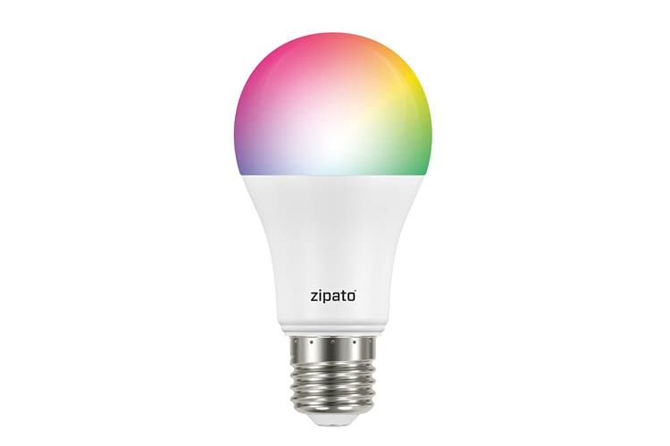 Die Zipato Bulb 2 gibt die Farbkanäle Rot, Blau, Grün, Warmweiß und Kaltweiß wieder