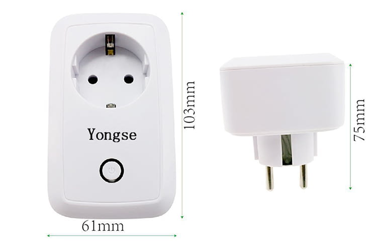 Der smarte Zwischenstecker Yongse benötigt dank kompakter Maße nur wenig Platz