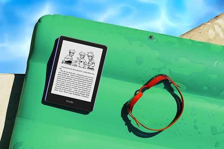 Kindle Paperwhite Kids ist wasserdicht nach Schutzklasse IPX8 und bietet ein 6,8 Zoll großes Display