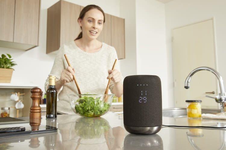 Der Sony Speaker LF-S50G lässt sich im Gegensatz zu den Google Lautsprechern kabellos nutzen