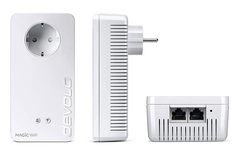 Das devolo Magic 2 Wifi next Starter Kit bietet einen maximalen Datendurchsatz von 2.400 Mbit/s im Powerline-Netz
