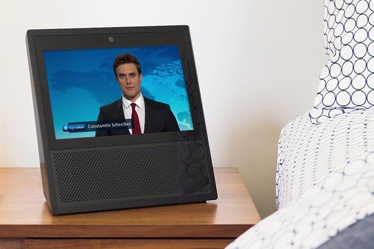 Amazon Echo Show gibt in der täglichen Zusammenfassung die Tagesschau in 100 Sekunden wieder