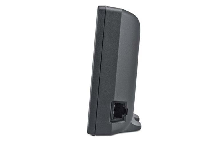 Der LAN-Anschluss befindet sich an der Seite der Gigaset go-Box 100