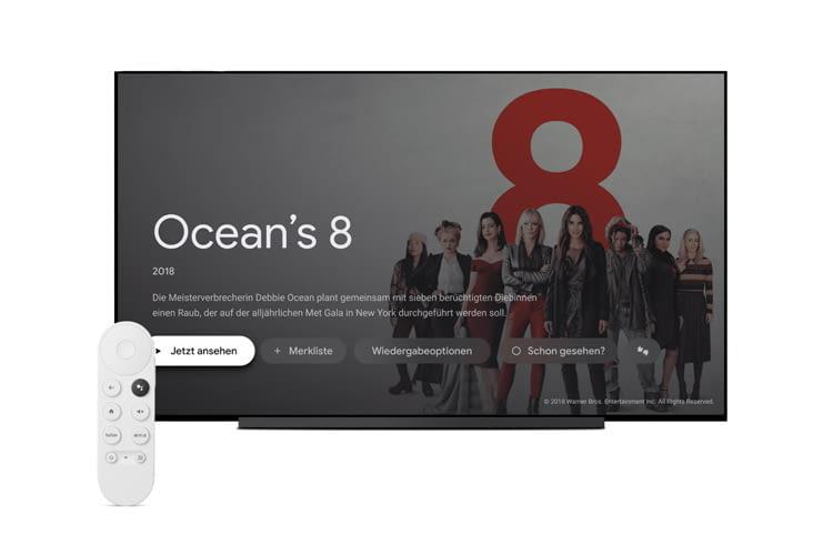 Google Chromecast mit Google TV wird inklusive Sprachfernbedienung geliefert
