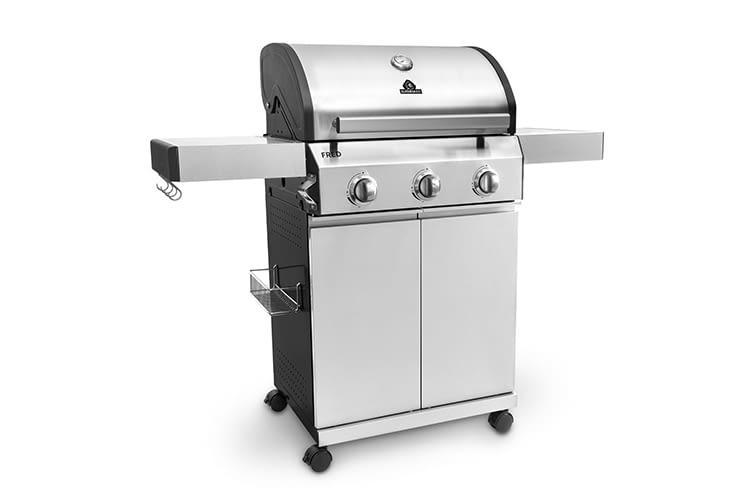 Mit dem Grillwagen Fred bietet BURNHARD einen robusten Gasgrill für anspruchsvolle Chefköche