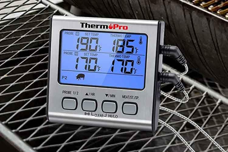 Das ThermoPro TP17 Grillthermometer überzeugt mit langen Sonden und vielen Komfort-Funktionen