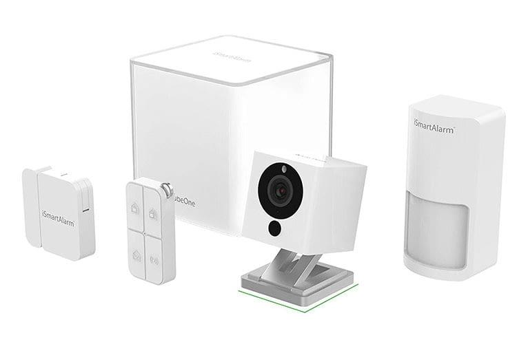 iSmartAlarm Essential Pack enthält CubeOne, Überwachungskamera, Bewegungs- und Fenstersensor sowie Fernbedienung