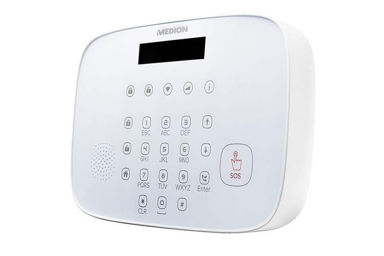 Das Herzstück des MEDION P85774 Alarmsystems: Die Alarmzentrale