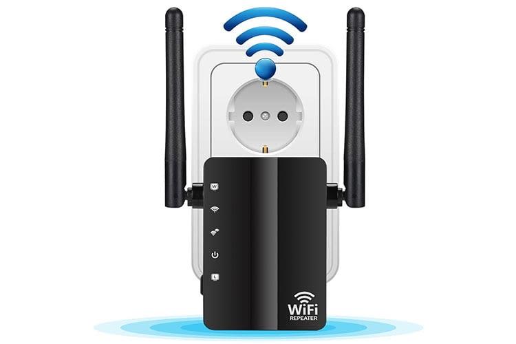 Dootoper N300: Günstiger 2,4 GHz WLAN-Repeater mit 2 LAN-Anschlüssen