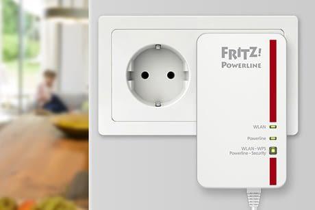 AVM FRITZ! Powerline 546E Steckers erweitert das Heimnetzwerk zuverlässig über das Stromnetz