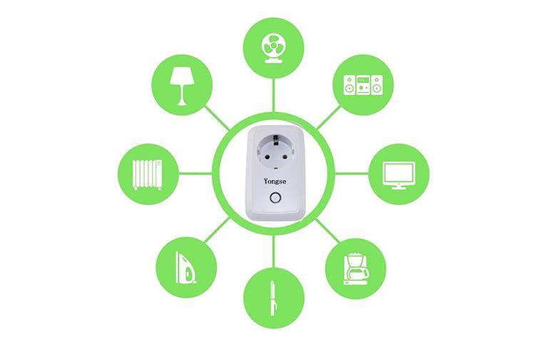 Über die Yongse Steckdose und Smartphone lassen sich elektrische Geräte per Handy fernsteuern