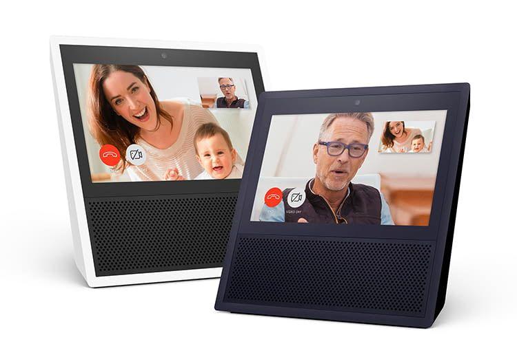 Amazon Echo Show ist in den Farben Schwarz und Silber erhältlich