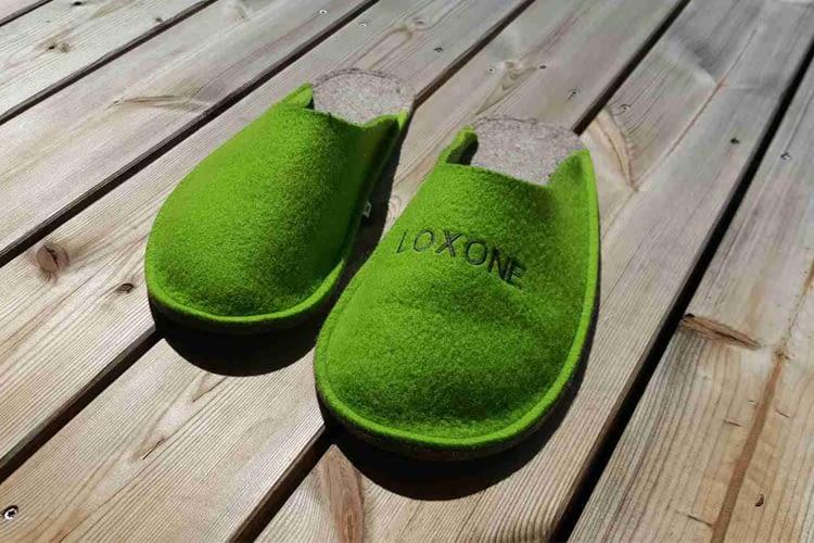 Das Loxone-Grün zieht sich durchs gesamte Showhouse