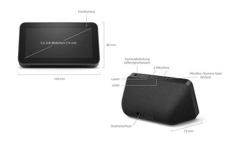 Amazon Echo Show 5 (2. Generation) verfügt leider nur über eine 2 MP-Kamera