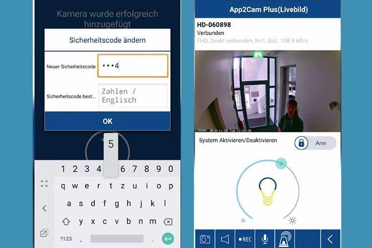 Die Verbindung der ABUS Smart Security World WLAN Lichtkamera PPIC36520 ist Code-gesichert