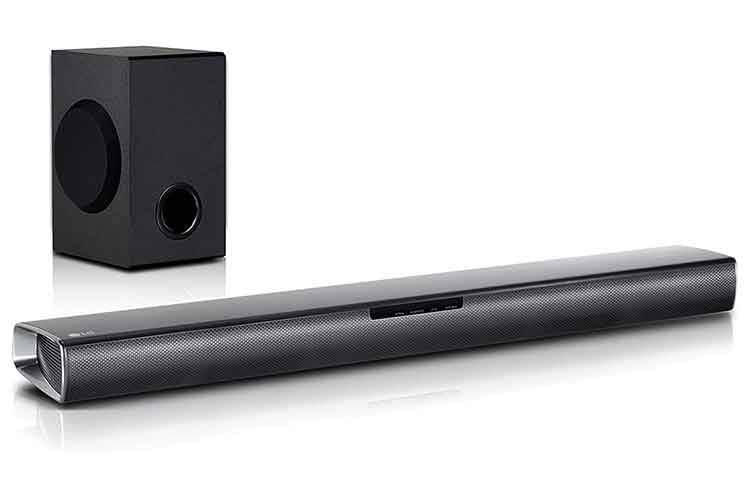 Die LG SJ2 Soundbar ist ein günstiges Einsteigermodell mit Subwoofer und Dolby Audio