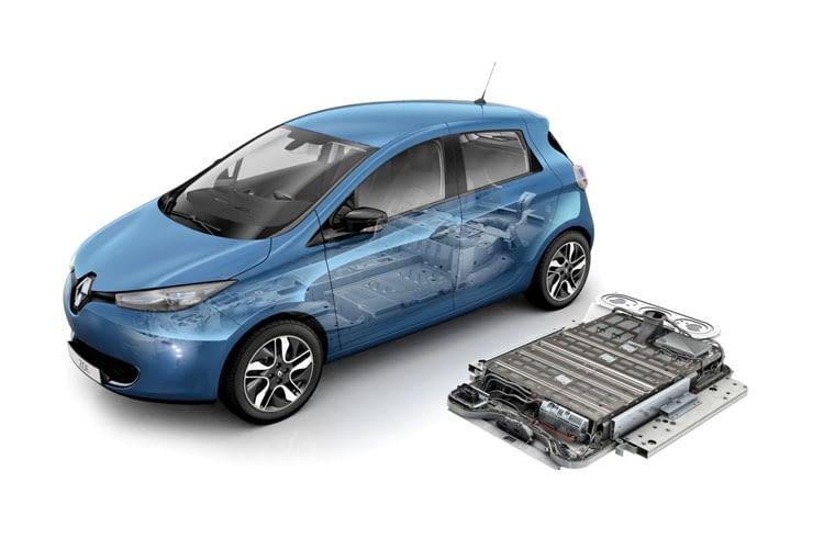 Die Batterie des Renault Zoe kann gekauft oder geleast werden.
