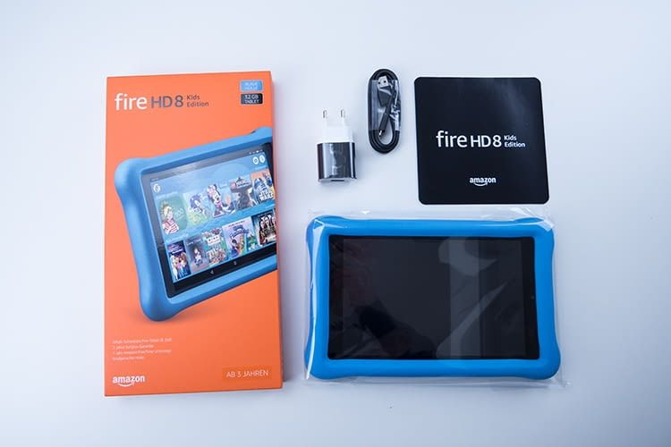 Lieferumfang Amazon Fire HD 8 Tablet Kids Edition