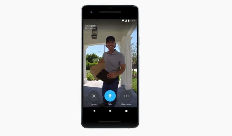 Mit der Smartphone-App für die smarte Türklingel Nest Hello hat man den Eingangsbereich stets im Blick